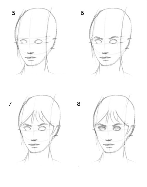 How to draw a realistic face how to draw portraits step